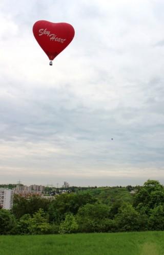 Start des Heißluftballon Sky Heart
